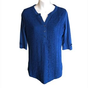 Shannon Ford Blue Top Size Small